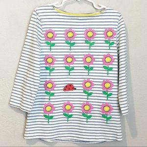Mini Boden Girls Flower Long Sleeve Tee